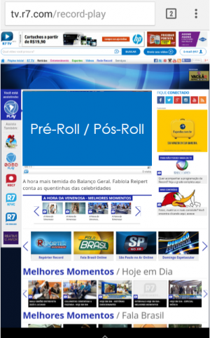 Pré-Roll - Pós-Roll